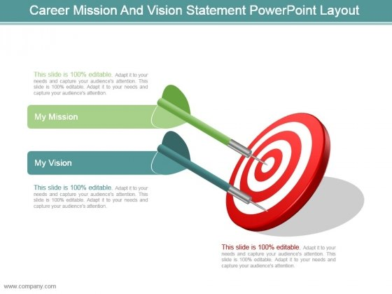 Career Mission And Vision Statement Powerpoint Layout
