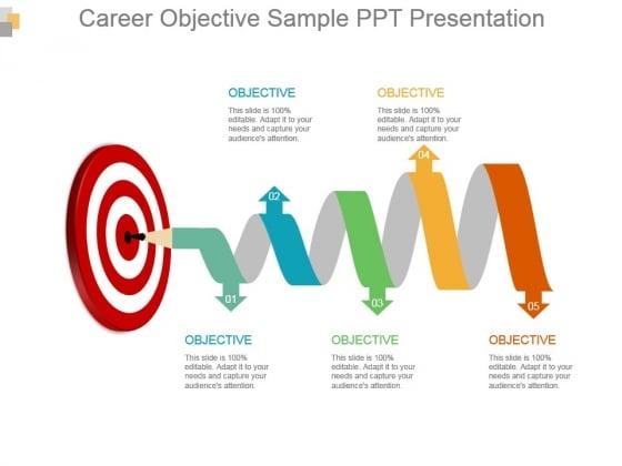 Career Objective Sample Ppt Presentation