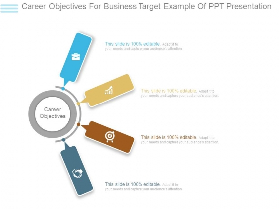 Career Objectives For Business Target Example Of Ppt Presentation