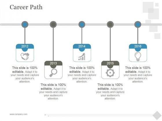 Career Path Ppt PowerPoint Presentation Infographic Template - Career roadmap template