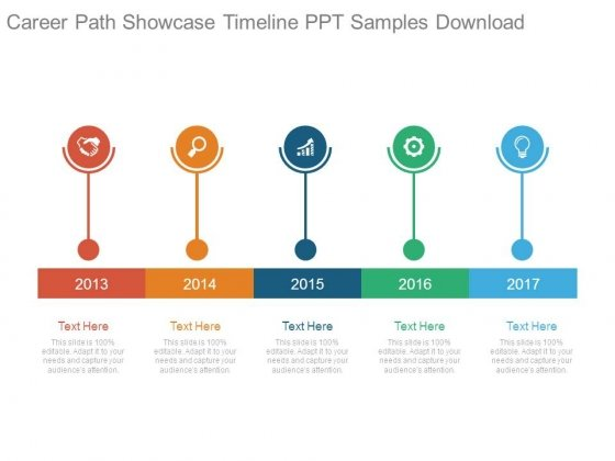 career path showcase timeline ppt samples download powerpoint