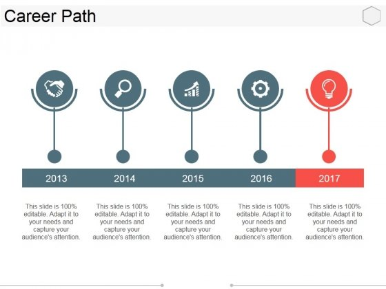 Career Path Template 1 Ppt PowerPoint Presentation Ideas Graphics Example