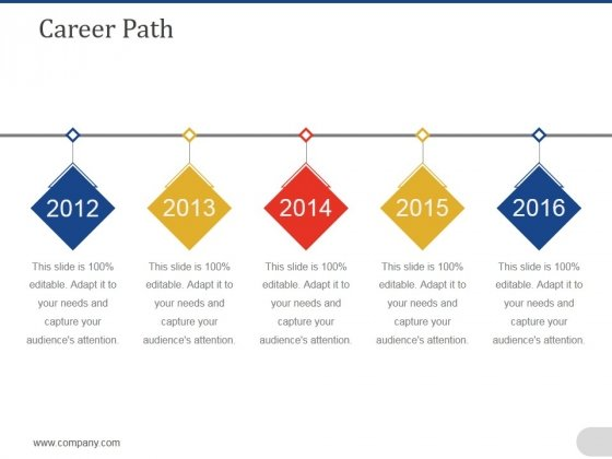 Career Path Template 1 Ppt PowerPoint Presentation Ideas Template
