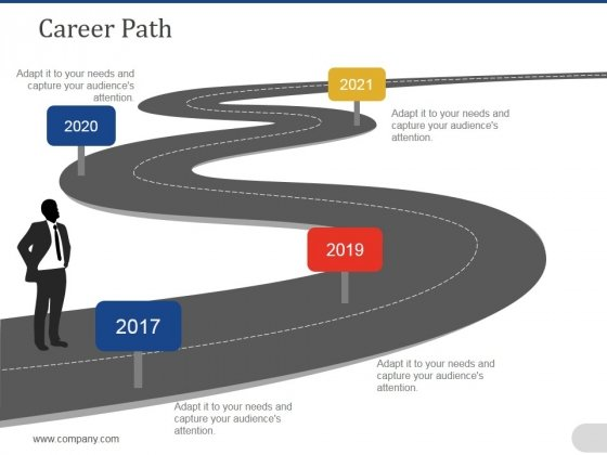 Career Path Template 2 Ppt PowerPoint Presentation File Gridlines