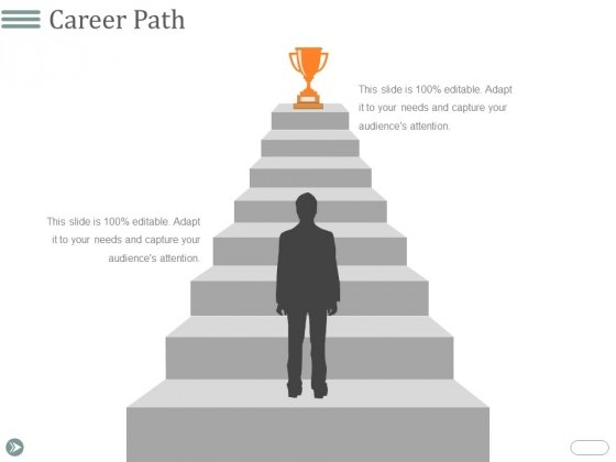 Career Path Template 2 Ppt Point Presentation Outline Example Topics Slide 1