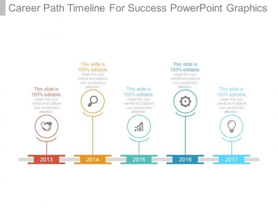 Career Path Timeline For Success Powerpoint Graphics - Powerpoint