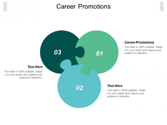 Career Promotions Ppt PowerPoint Presentation Model Examples Cpb