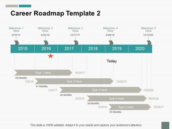 Career Roadmap Ppt PowerPoint Presentation Summary Slide