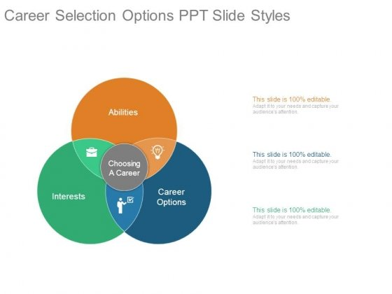 Career Selection Options Ppt Slide Styles