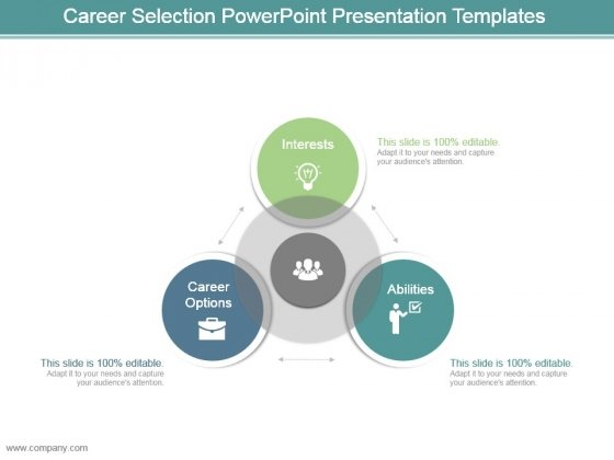 Career Selection Powerpoint Presentation Templates