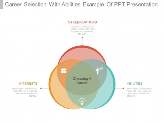 Career Selection With Abilities Example Of Ppt Presentation