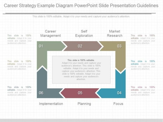 Career Strategy Example Diagram Powerpoint Slide Presentation Guidelines