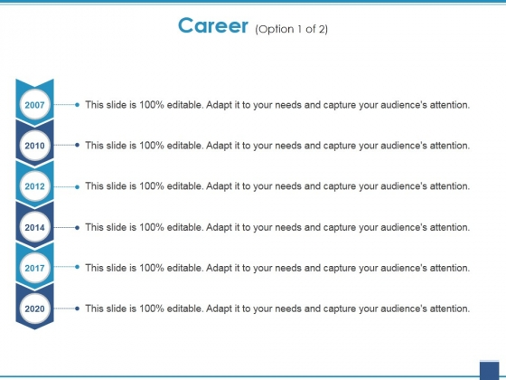 Career Template 1 Ppt PowerPoint Presentation Pictures Gridlines