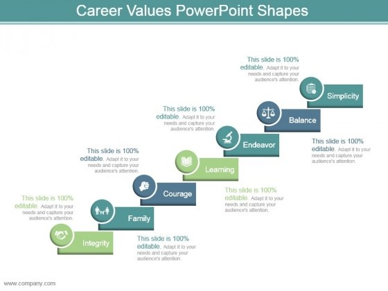 Career Values Powerpoint Shapes