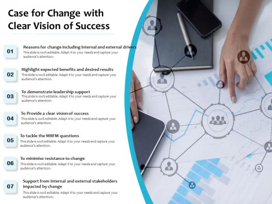 Case For Change With Clear Vision Of Success Ppt PowerPoint Presentation Gallery Slideshow PDF