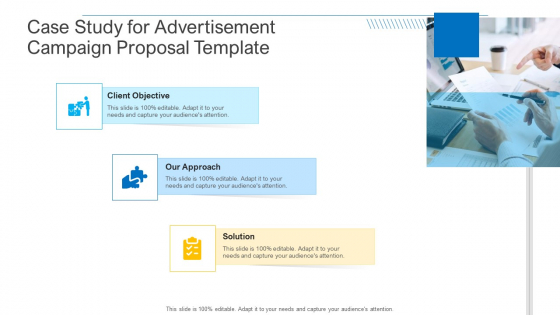 Case Study For Advertisement Campaign Proposal Template Summary PDF