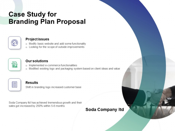 Case Study For Branding Plan Proposal Ppt File Information PDF
