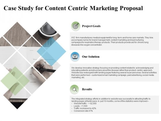 Case Study For Content Centric Marketing Proposal Ppt PowerPoint Presentation Slides Graphic Tips