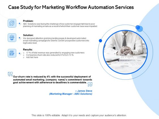 Case Study For Marketing Workflow Automation Services Ppt PowerPoint Presentation Professional Outline PDF