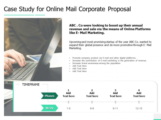Case Study For Online Mail Corporate Proposal Ppt Layouts Objects PDF