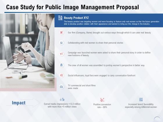 Case Study For Public Image Management Proposal Ppt PowerPoint Presentation Summary Design Ideas