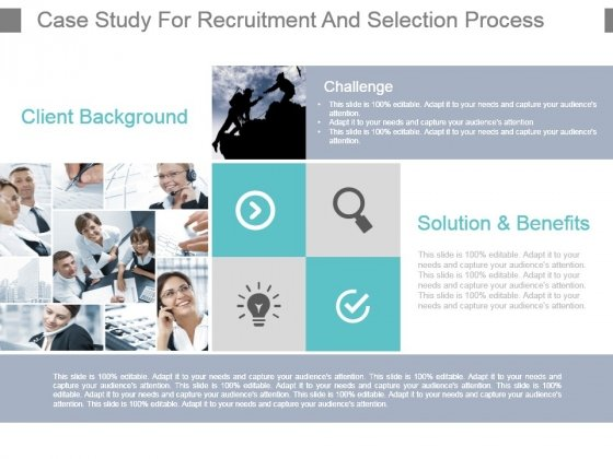 recruitment and selection case study with solution Case brieftrilogy enterprises, a texas based software solution provider, is quick to understand the changing nature of.