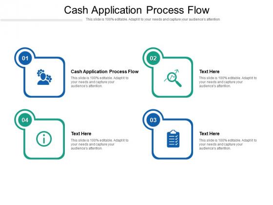 Cash Application Process Flow Ppt PowerPoint Presentation Themes Cpb Pdf