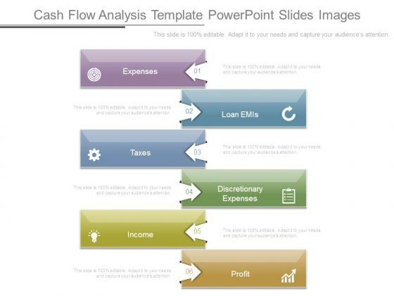 Cash Flow Analysis Template Powerpoint Slides Images  Powerpoint