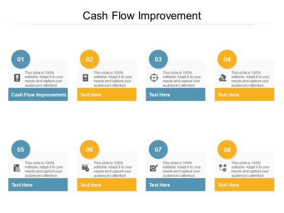 Cash Flow Improvement Ppt PowerPoint Presentation Icon Examples Cpb