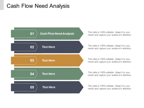 Cash Flow Need Analysis Ppt PowerPoint Presentation Slides Shapes Cpb