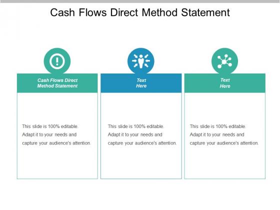 Cash Flows Direct Method Statement Ppt PowerPoint Presentation Inspiration