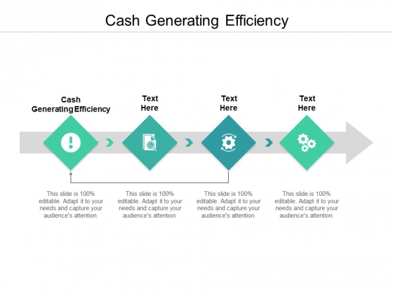 Cash Generating Efficiency Ppt PowerPoint Presentation Styles Designs Download Cpb