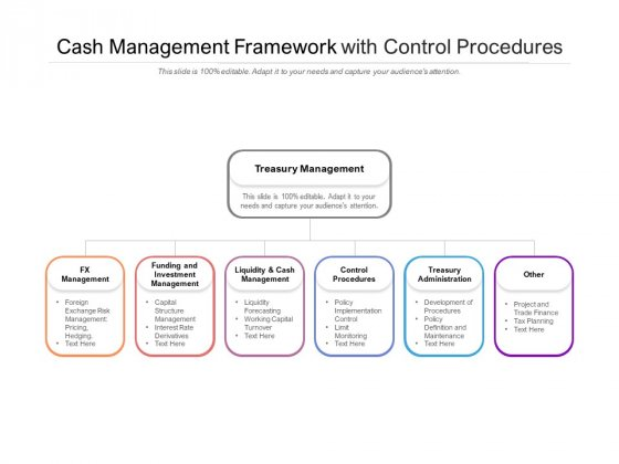Cash Management Framework With Control Procedures Ppt PowerPoint Presentation Ideas Visual Aids