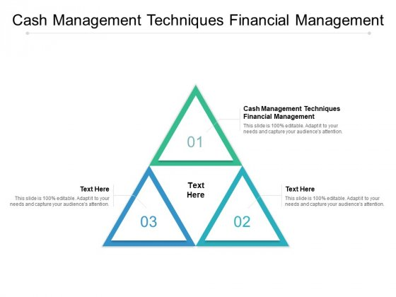 Cash Management Techniques Financial Management Ppt PowerPoint Presentation Gallery Picture Cpb