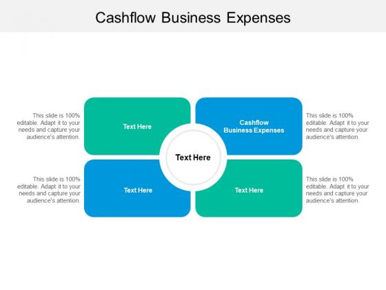 Cashflow Business Expenses Ppt PowerPoint Presentation Slides Designs Cpb