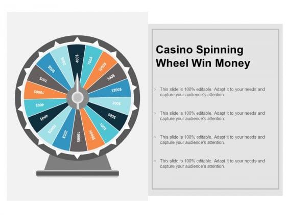 Casino Spinning Wheel Win Money Ppt PowerPoint Presentation Ideas Deck Cpb