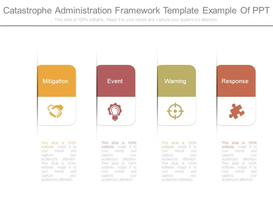 Catastrophe Administration Framework Template Example Of Ppt