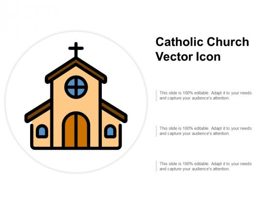 Catholic Church Vector Icon Ppt PowerPoint Presentation Styles Example Introduction