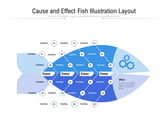 Cause And Effect Fish Illustration Layout Ppt PowerPoint Presentation Pictures Information PDF