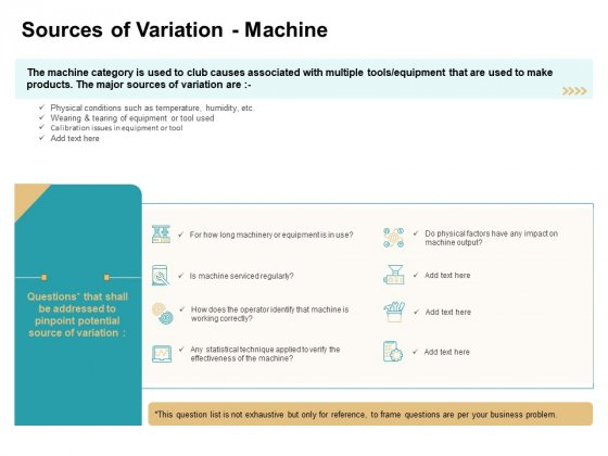 Cause And Effect For Business Problem Solution Sources Of Variation Machine Download PDF