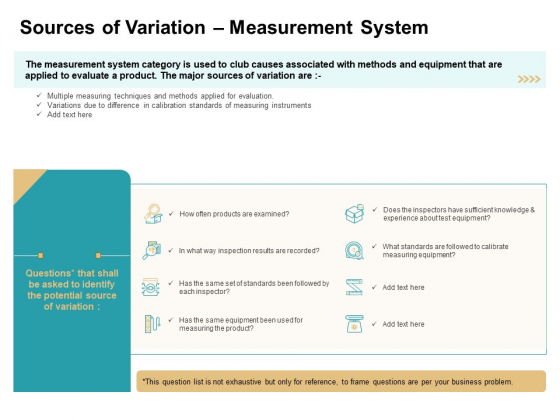 Cause And Effect For Business Problem Solution Sources Of Variation Measurement System Pictures PDF