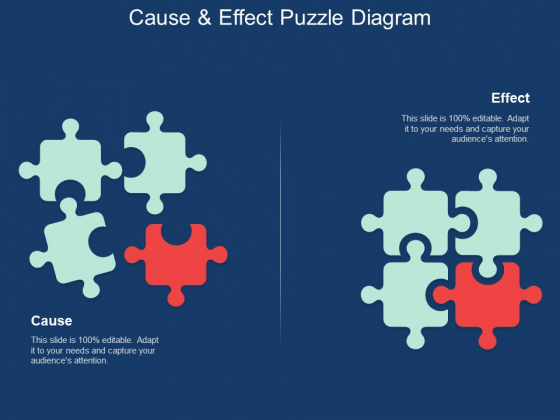 Cause And Effect Puzzle Diagram Ppt Powerpoint Presentation Layouts