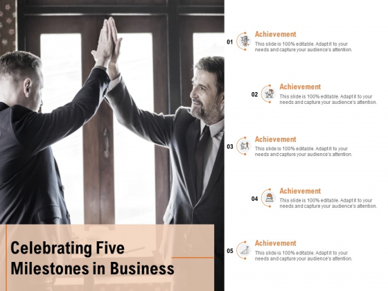 Celebrating Five Milestones In Business Ppt PowerPoint Presentation Layouts Structure