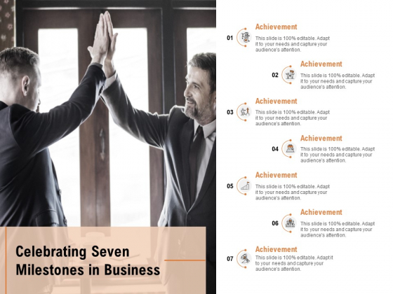 Celebrating Seven Milestones In Business Ppt PowerPoint Presentation Professional Portrait