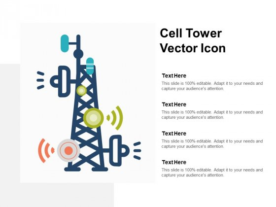 Cell Tower Vector Icon Ppt PowerPoint Presentation File Show