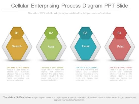 Cellular Enterprising Process Diagram Ppt Slide