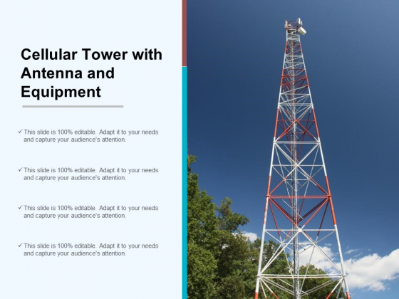 Cellular Tower With Antenna And Equipment Ppt PowerPoint Presentation Summary Design Inspiration