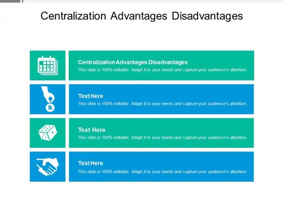 Centralization Advantages Disadvantages Ppt PowerPoint Presentation Model Topics Cpb