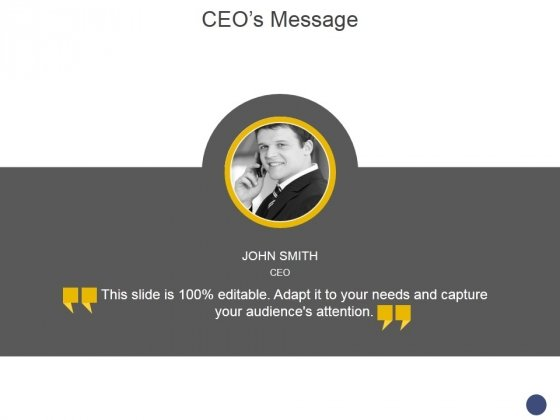 Ceos Message Template 1 Ppt PowerPoint Presentation Visual Aids Files