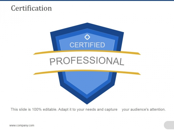 Certification Ppt PowerPoint Presentation Model Aids